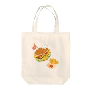 ハンバーガーセットと物体くん Tote bags