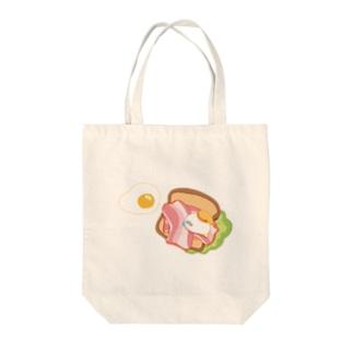 目玉焼きトーストと物体くん Tote bags