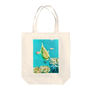 ハリセンボン Tote bags