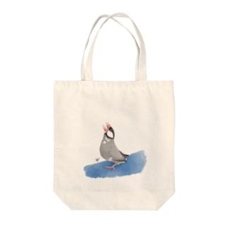 直角桜文鳥 Tote bags