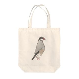 背伸び桜文鳥 Tote bags