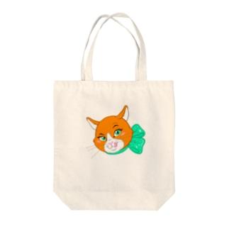 オレンジキャットの「シャネル」 Tote bags