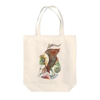 カメレオン王 Tote bags