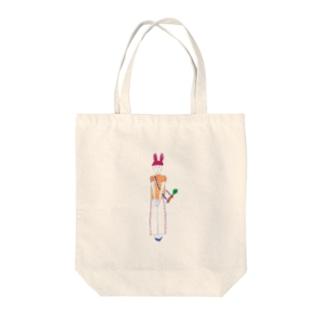 rabbit girl Tote bags