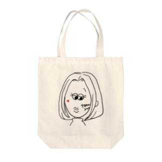 すまし顔の私 Tote bags