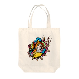 Fighting Dog Tote bags