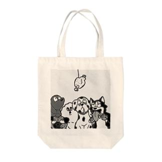 お肉と犬達 Tote bags