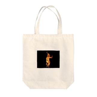 ファイア Tote bags