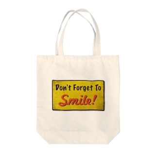 Don't Forget To Smile! (笑顔を忘れずに) Tote bags