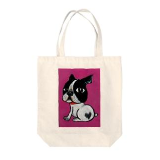 ピンクちゃん Tote bags