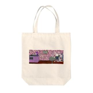 カフェオレうさぎ パープル Tote bags