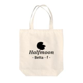 Halfmoon Betta⑤Black Tote bags