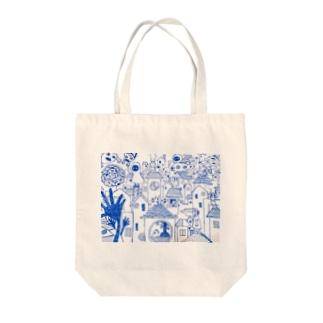 青の世界 Tote bags