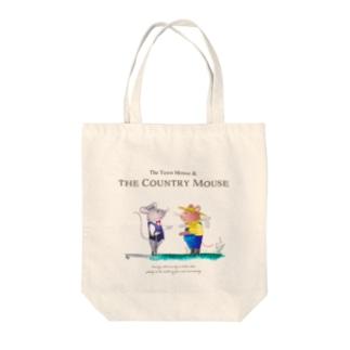都会のネズミと田舎のネズミ トートバッグ Tote bags