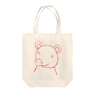 クマ1 Tote bags