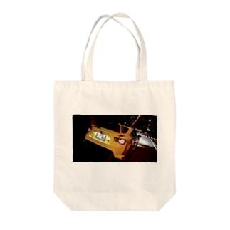 86イエローリミテッド Tote bags