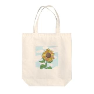 向日葵 Tote bags
