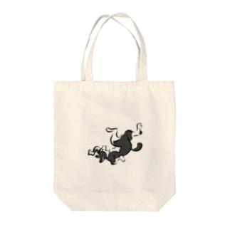 はちわれ猫の鳥獣人物戯画風 Tote bags