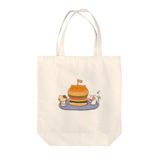 catsバーガー Tote bags
