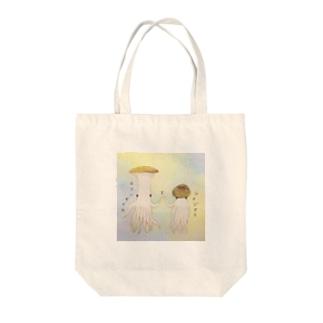 エリンギイカとシメジタコ(もじいり) Tote Bag