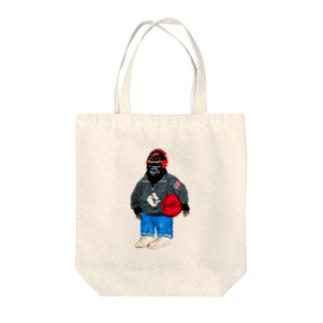 ストリートごりらゴリラ Tote bags