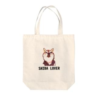 SHIBA LOVER Tote bags