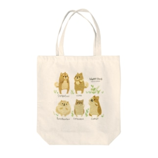 SORAHANAのHAPPY DOG Tote bags