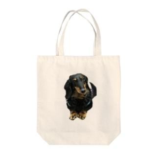 愛犬ブルくん Tote bags
