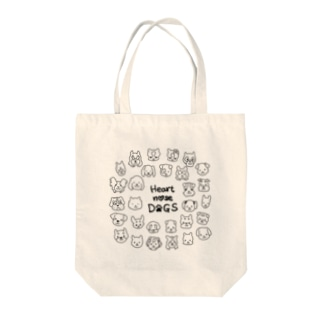 Heart nose DOGS(丸型) Tote bags