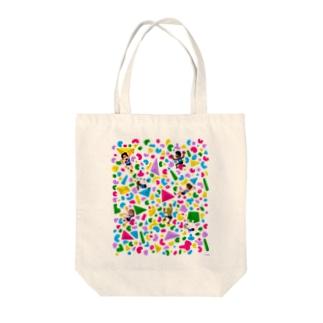 ポップなボルダリング Tote bags