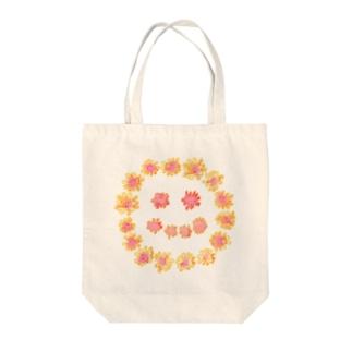 にこ Tote bags