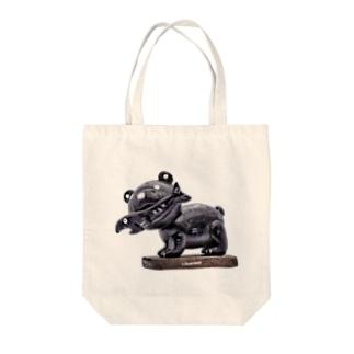 木彫りの熊風粘土のクマさん Tote bags