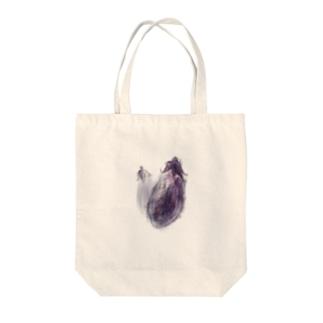 akane_art(茜音工房)のベジタブルバッグ(ナス) Tote bags