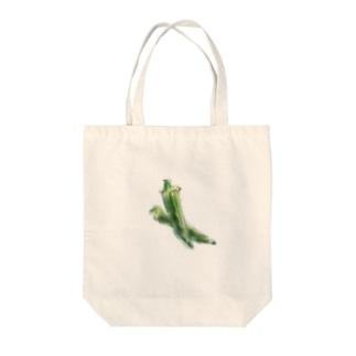 ベジタブルバッグ(オクラ) Tote bags