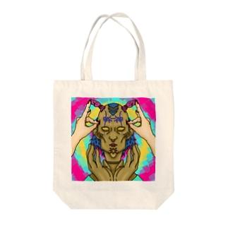 まんまんちゃん Tote bags