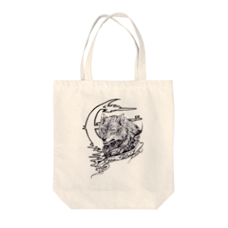 MinoriのLone Wolf Tote bags