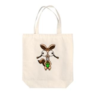 ハダイロのリス Tote bags