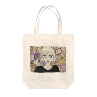 paisley Tote bags