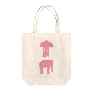 西荻にいたピンクの象01 Tote bags