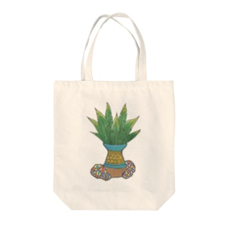 グリーンリーフ001 Tote bags