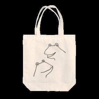 motoko torigoeのカエル3 Tote bags