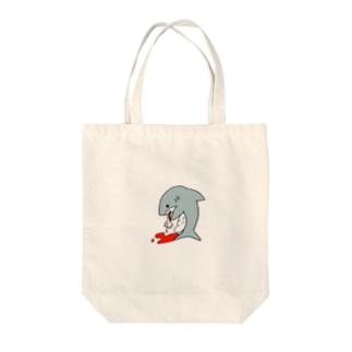 食べすぎサメ Tote bags