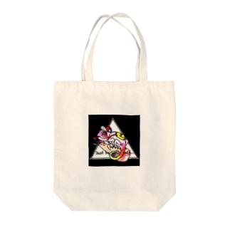 カラフル+カメレオン Tote bags