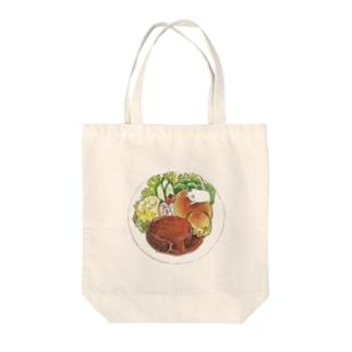 ハンバーグプレート Tote bags