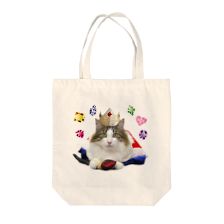Cat Cafe ねころびの王様ハルキ Tote bags