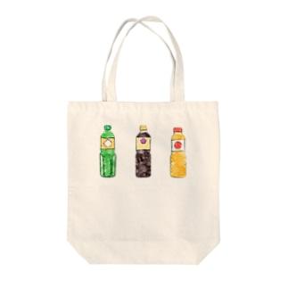 酒としょうゆとみりん Tote bags