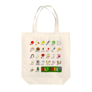 alphabet Tote bags