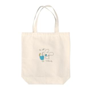 ブルーレモネード Tote bags