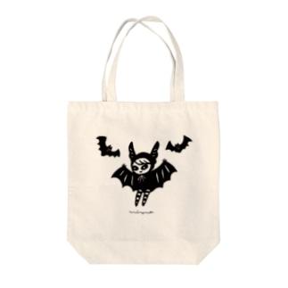 Bat Girl Tote bags