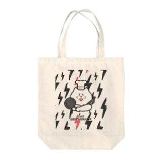 ネコ店長とイナズマ Tote bags
